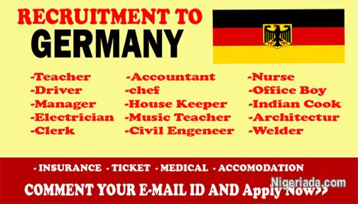 URGENT RECRUITMENT IN GERMANY! APPLY FOR A JOB IN GERMANY